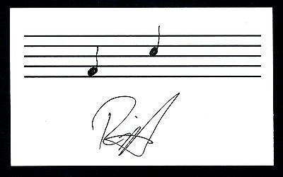 Rick Huckaby Country Music Singer Songwriter Signed 3x5 Index Card C11620