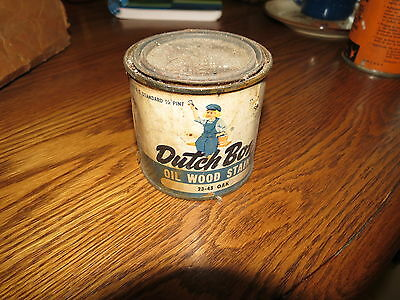 Vintage Advertising Paint Can DUTCH BOY OIL WOOD STAIN  National Lead Co NY