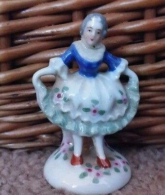 Vintage Figurine Made In Occupied Japan Colonial Woman Girl miniature Figural