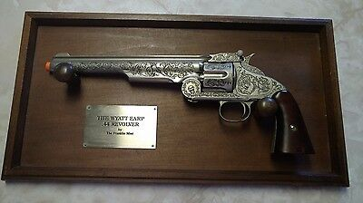 Wyatt Earp .44 Revolver, By The Franklin Mint Collectable Gun Fire Arm Gift