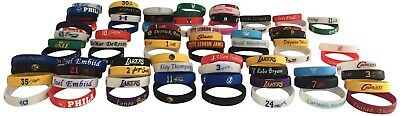 Sports Silicone Wristband NBA Stars Basketball Bracelet Band Logos & Signatures