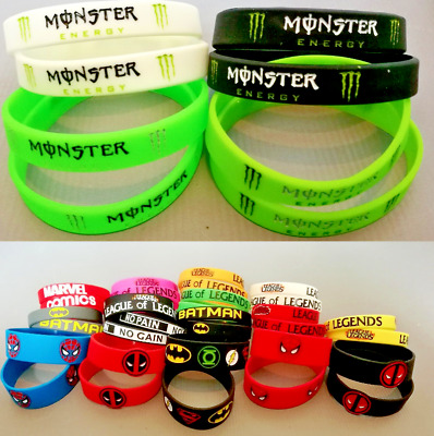 Sports Silicone Wristband 3D Monster Bracelet Baller Band Logo Energy Drink Soda