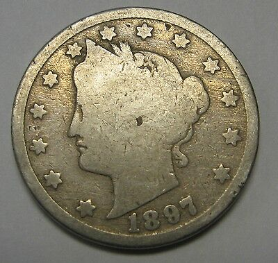 1897 Liberty V Nickel in the GOOD Range A Great Filler Coin DUTCH AUCTION