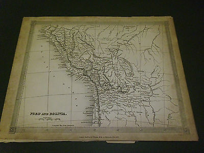 100% Original Peru Bolivia  Map By Findlay C1840 Vgc Low Postage