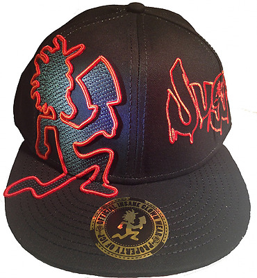 Insane Clown Posse ICP HATCHET MAN Juggalo Black/RED Baseball Hat Licensed NWT