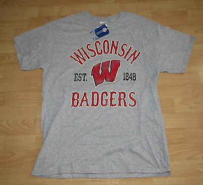 Wisconsin Badgers Distressed Vintage Style Shirt T-shirt size Men's Large