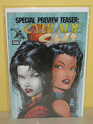 CYBLADE SHI - Special Preview Teaser - SIGNED by MICHAEL TURNER - 1st Witchblade