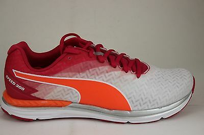 WOMEN S PUMA SPEED 300 Ignite White-Rose Red-Peach 18811501 Brand ... b983389f5