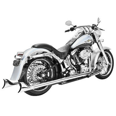 True Duals Sharktail Exhaust Freedom Performance HD00203- Harley Softail 1986-16