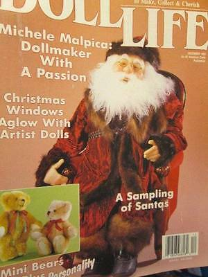 Doll Life December 1993 Magazine-Santa & Polka Dot Tree/Toddler/Lisa Block Doll/
