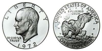 1972 S Proof Eisenhower Ike 40% Silver $1 Dollar US Mint Coin