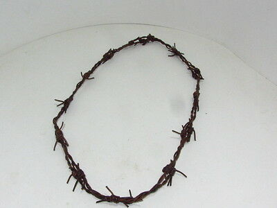 1 Leather barbed wire necklace.....Antique brown colored.. 0175.,   bracelet...