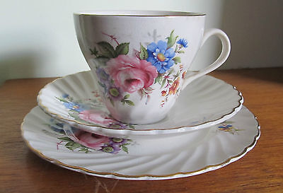 Vintage OLD FOLEY/JAMES KENT TRIO SET, Floral, England, CSP, Cup Saucer Plate