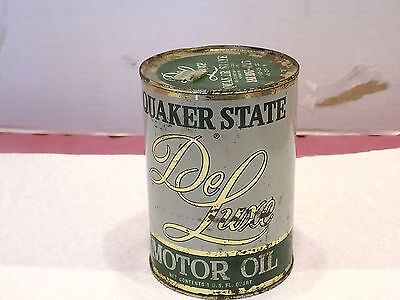Vintage Quaker State Motor Oil Can Deluxe