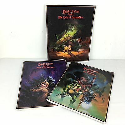RARE Advanced Dungeons & Dragons Night Below Book Set TSR 1995 Collectors Item