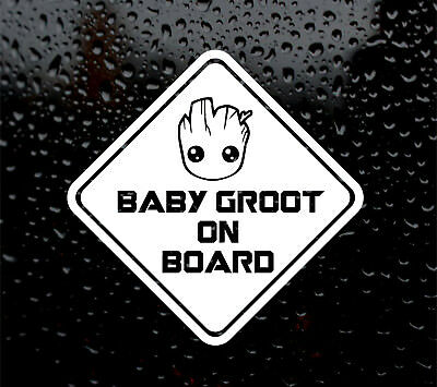 Baby Groot On Board Guardians Of The Galaxy Decal Logo For Car/Van Vinyl Sticker