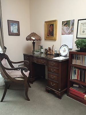 Beautiful Office/ Study Desk - mahogany, 7 drawers, very good condition.