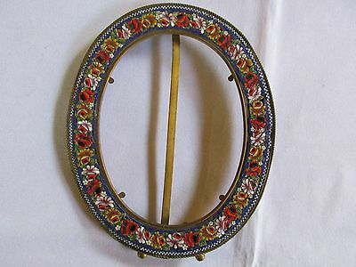 Antique / Vintage Italian Oval Photo Frame Picture Frame Italy ?  Unmarked