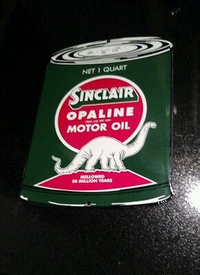 Sinclair Can Gasoline Oil Porcelain Advertising Sign