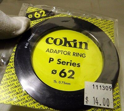 62mm Cokin P series filter ring adapter Genuine France - Free shipping worldwide