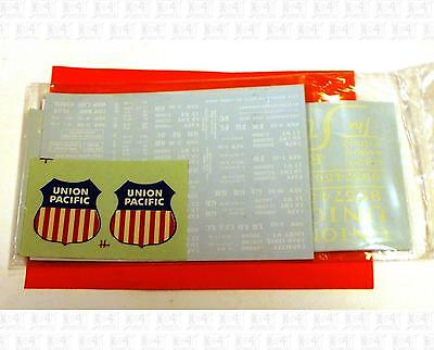 Walthers O Decals Union Pacific Freight Car White Red and Blue 93-W