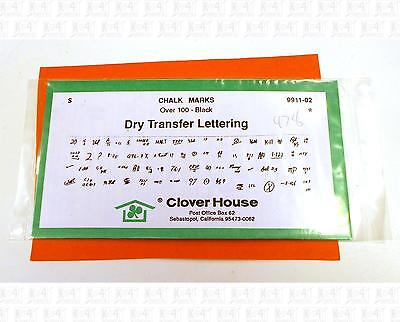 Clover House S Dry Transfer Decals Freight Car Chalk Marks Black 9911-02