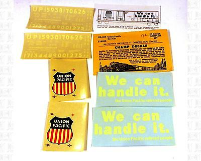 Champ O Decals Union Pacific Boxcar White OB-409 We Can Handle It