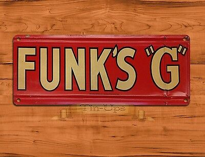 "TIN-UPS TIN SIGN ""Funk's ""G"" Garage Rustic Music Wall Decor"
