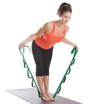 Stretch Yoga Training Belt Resistance Strap Waist Leg Fitness Exercise Gym