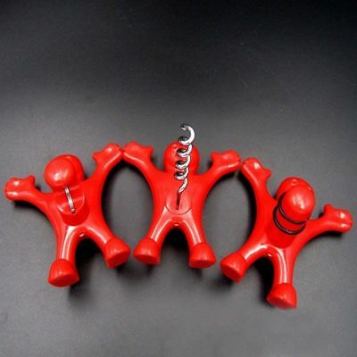 Happy Red Man Soda Wine Bottle Beer Opener Stopper Corkscrew Plug Bar Tool