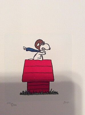 Red Baron Snoopy, Peanuts, Animation art work With Park West Certificate Lot 37