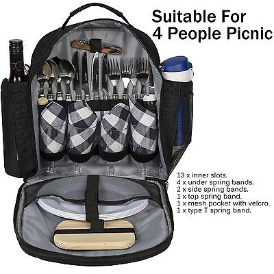 New Outdoor Picnic Lunch Dinner BBQ Bag Travel  Hiking Camping Carry Tote Bag