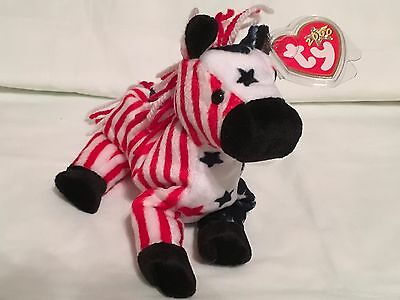 TY Beanie Baby - LEFTY 2000 the Donkey - Pristine with Mint Tags - RETIRED