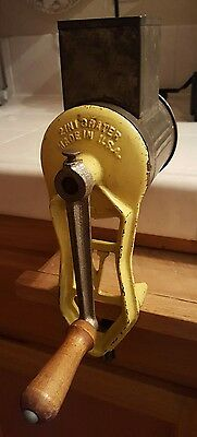 Vintage 2 In 1 Grater Cast Iron Model B Made In USA Cheese Country Kitchen Decor
