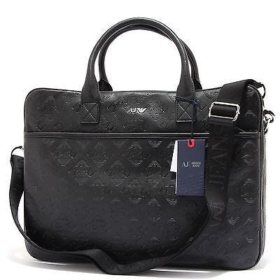 5475S  borsa uomo ARMANI JEANS multitasche tracolla nero laptop bag man