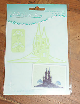 LANDSCAPE CASTLE 45.1208 LeCrea Cutting and Embossing Die Stencil Leane