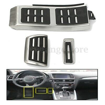 AU Foot rest Fuel Brake AT Pedals Pad Plate Cover Foot rest For AUDI A4 S4 A5 A6