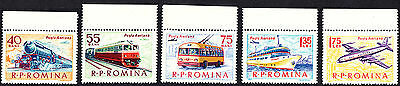 Romania 1963 Means of Transport  Complete Set of Stamps MNH
