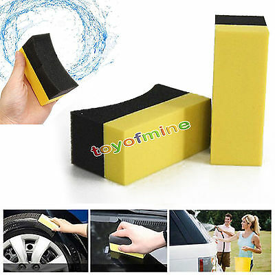 2/5/10 Car Cox Professional Tyre Tire Dressing Applicator Curved Foam Sponge Pad