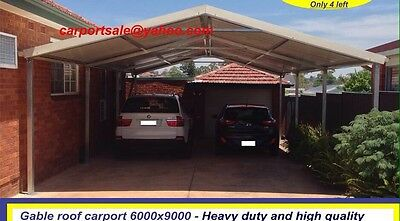 steel carport , new triple gable roof carport 9 x 6 , strong frame kit