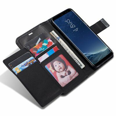 Luxury Leather Magnetic Flip Cover Stand Wallet Case For Samsung Galaxy Models
