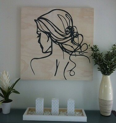 Timber Gallery Style ART PANEL - 'NEW Oooh la-la WOOD-timber Decor-large Format