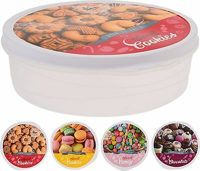 Large Cake Storage Box Sweets Biscuit Tin Cupcake Airtight Storage Container