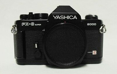 YASHICA FX-3 Super 2000 35mm SLR Film Camera Body Only Tested Meter Working Nice