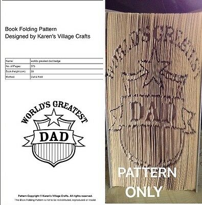 Worlds Greatest Dad Book Folding Pattern(Cut And Fold Pattern Only