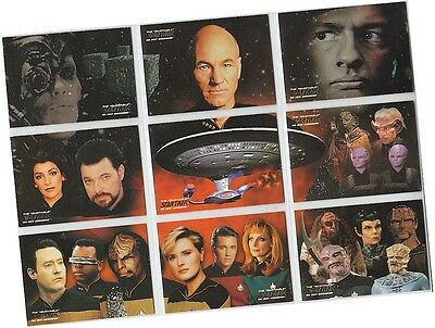 "Quotable Star Trek TNG Next Generation: 9 Card ""Final Frontier"" Chase Set ST1-9"