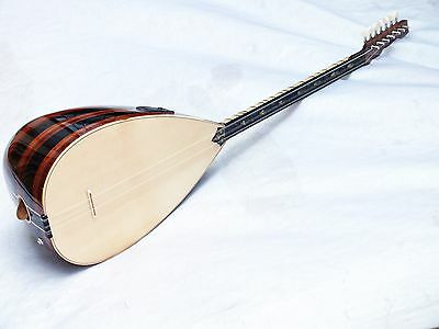 SAM::  TURKISH   ACOUSTIC SHORT NECK MAHOGANI SAZ BAGLAMA w/ EQUALIZER   NEW !!!