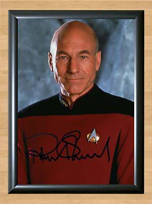 Patrick Stewart Star Trek Signed Autographed A4 Photo Poster Memorabilia Movie