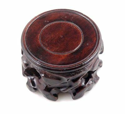 3 Inches Round Wooden Display Stand Raiser Easel For Teapot Vase Figurine NEW