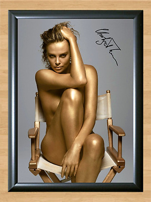 Charlize Theron Signed Autographed A4 Photo Print Poster Memorabilia Movie dvd